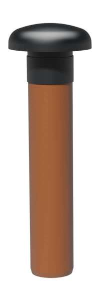 Be- und Entlüfter mit 500 mm KG-Rohr DN100