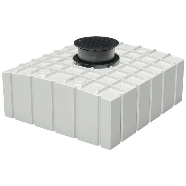 AQa.Line Trinkwasserspeicher Flachtank 4150L inkl. Abdeckung