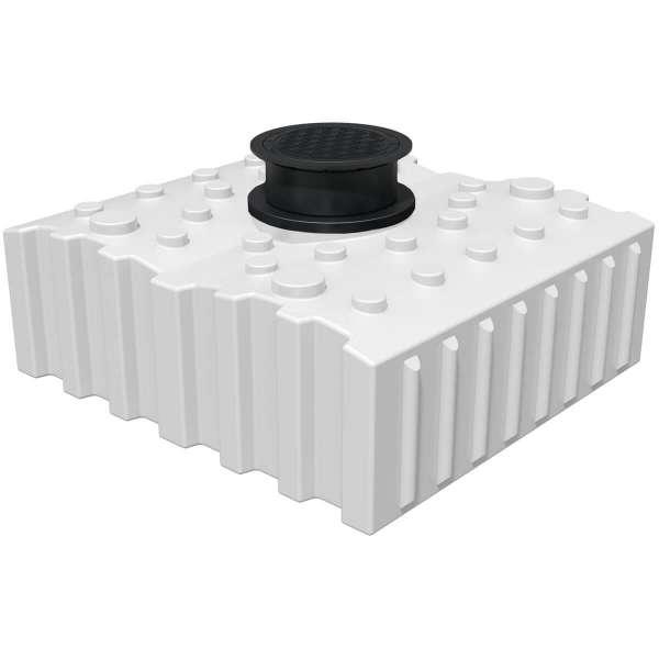 AQa.Line Trinkwasserspeicher Flachtank 4000L inkl. Abdeckung