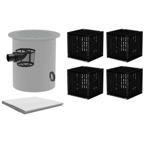 """AQa.Line Sickerbox Set """"easy pro"""" inkl. Vorfilter - 820 L bis 2460 L"""